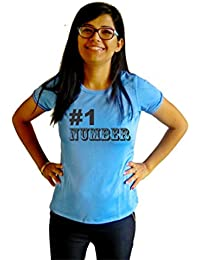 LetsFlaunt #1 Number T-shirt T-shirt Girls Blue Dry-Fit Nw