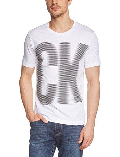 Calvin Klein Jeans THESPIAE T-Shirt Homme, Blanc éclatant (PT 112), Large