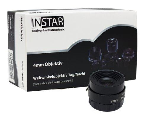 INSTAR 100733 Weitwinkelobjektiv für IN-5907HD (4mm, 90 Grad Blickwinkel)