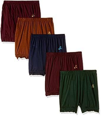 Rupa Jon Boys' Cotton Boxer (Pack of 5)(JN Bloomer(Inner)_Assorted_50)