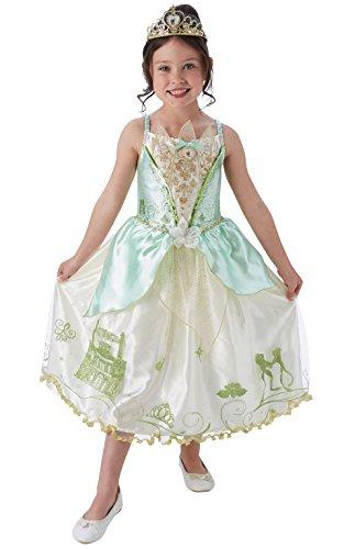 Rubie's offizielles Kinder-Kostüm der Disney-Prinzessin Tiana mit aufwendiger Verarbeitung (Disney Prinzessin Frosch Kostüm)