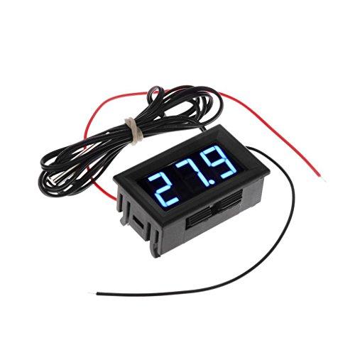MagiDeal LCD Digital Kühlschrank Aquarium Temperaturanzeige Tester Thermometer , 5-12V ,18MA , -40 - 65 ℃ , Blau