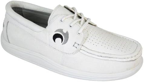 Henselite - Botas de cuero para hombre blanco blanco 47