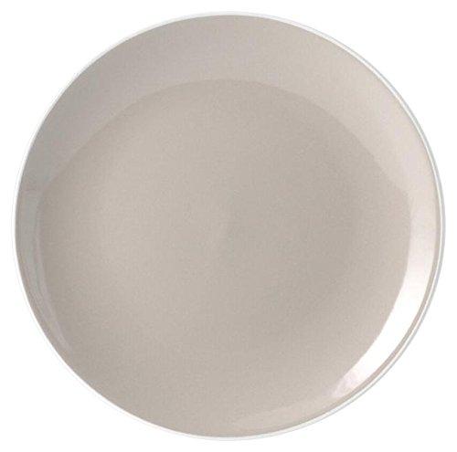 H&H Cloe Assiette Porcelaine Taupe 27 cm