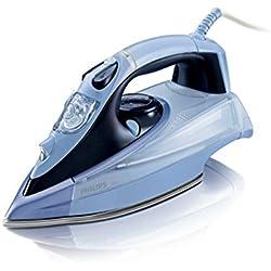 Philips Azur GC4865/02 Plancha de Vapor Continuo 45 g/min, Golpe de 200 g, 2400 W, 0.35 litros, 0.35, Compuesto, Azul Oscuro