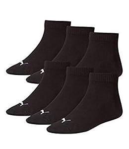 PUMA Unisex Quarters Socken Sportsocken 18er Pack (39-42, Black)