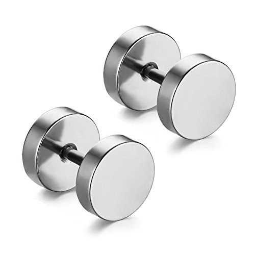 Aooaz Schmuck 1 Paare / 2 Stück Creole Ohrringe 3mm Edelstahl Allergiefrei Silber Runde Ohrstecker Ohrringe für Damen und Herren Frauen Männer