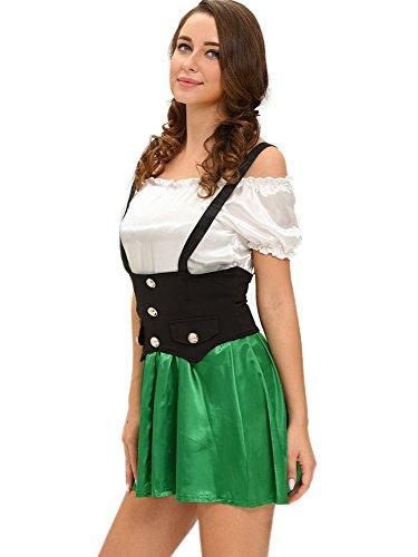 Fortuning's JDS Shamrock Sweetie 2pcs Bier Mädchen Kostüm (Mädchen Kostüm Zwangsjacke)