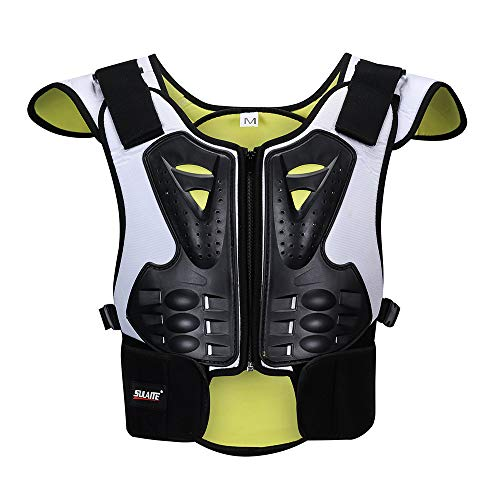 NBKLS Kinder Anti-Fall-Motorrad-Schutzweste Motocross Racing-Rüstung, Skating Brust Brustkante Rückenschutz Weste