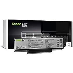 Green Cell® PRO Serie A32-K72 Batteria per Portatile Asus K72 K72F K72J K72JR K73 K73S K73SV N71 N73 N73S N73SV X73 X73E X73S (Le Pile Originali Samsung SDI, 6 Pile, 5200mAh, Nero)