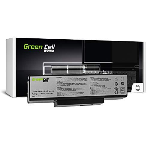Green Cell® PRO Serie A32-K72 Akku für ASUS K72D K72DR K72DY K72JK K72JV K73E K73SD N71J N71V N71VG N73J X73B X73SD X73SJ X73SV (Original Samsung SDI Zellen, 6 Zellen, 5200mAh, Schwarz) -