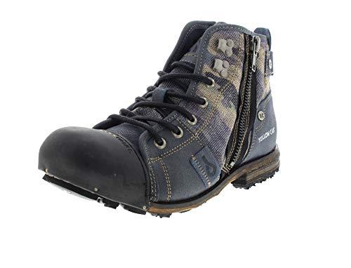Yellow Cab Herrenschuhe - Boots Industrial 15458 - Blue, Größe:46 EU