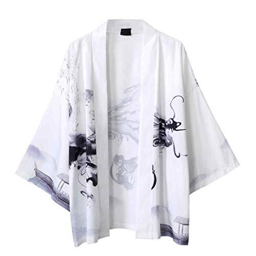SEHRGUTGE Kimono-Kostüm für japanische Yukata-Strickjacken - Übergroßer Bademantel für Herren/Damen - Größe M-XXL (Japanische Yukata Kostüm)