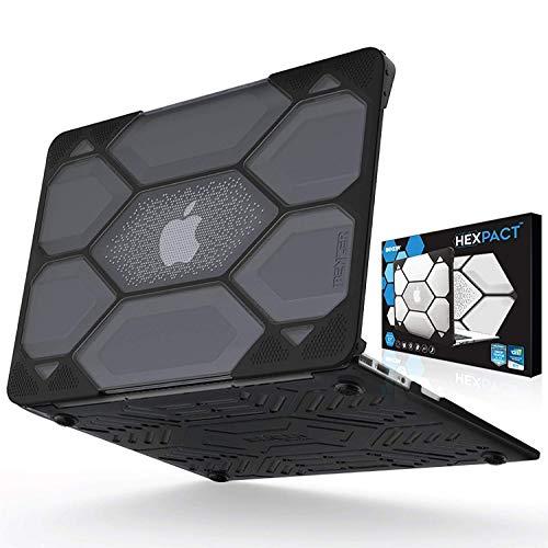 MacBook Air Fall, ibenzer hexpact Dual Layer Design Fullbody Rugged Schutzhülle Crystal Black MacBook Air 13