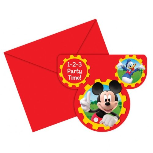 gskarten-Set * MICKEY MOUSE CLUBHOUSE * für Kindergeburtstag und Motto-Party // Einladungen und Umschläge von Micky Maus für Kinder (Micky Maus Party)