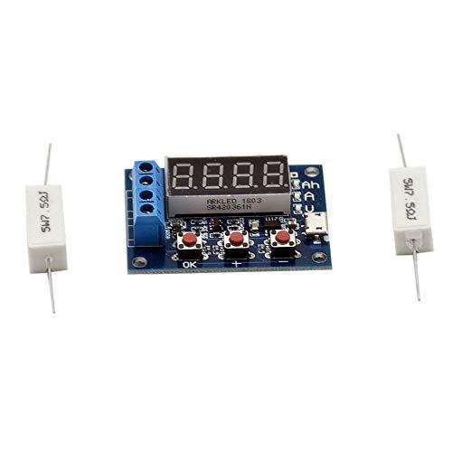 gfjfghfjfh 1.2V 12V 18650 HW-586 Li-Ionen-Lithium-Batterie-Kapazität Tester Widerstand Blei-Säure-Batterie-Kapazität Meter Entladung Tester