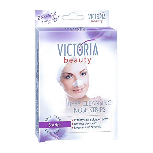 Victoria Beauty - Tiefenreinigende Nasenstrips - Clear-Up Strips - Blackhead Maske - Strips gegen Mitesser - Nasenmaske, Nasenstreifen zum Mitesser entfernen (1 Packung mit 6 Strips)