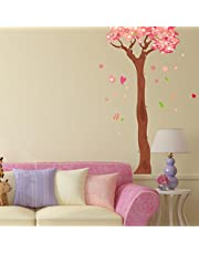 Solimo Wall Sticker for Home(Blossoming Tress,  ideal size on wall ,  74 cm x 113 cm)