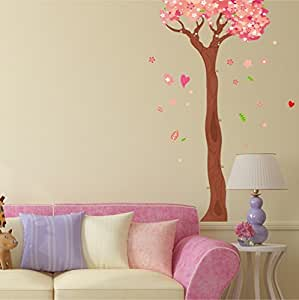 Amazon Brand - Solimo Wall Sticker for Home(Blossoming Tress, Ideal Size on Wall, 74 cm x 113 cm)