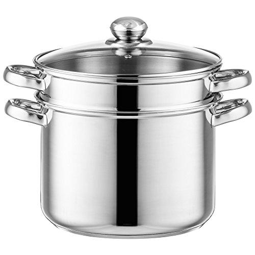 Style\'n Cook Spaghettitopf Ø 24 cm Edelstahl inkl. Gemüseeinsatz