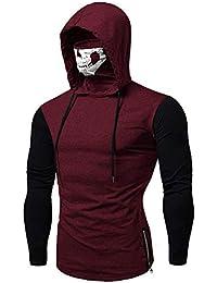 Sweat à Capuche Homme, Printemps Automne Hiver Sweat-Shirt Manteau Veste AméLiorer Pas Cher Hoodies LâChe DéContracté Pullover Sweat-Shirt Chemisier