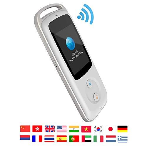 Smart Translator Sprachübersetzer Mit 18 Sprache Simultanübersetzung Tragbarer Handheld Übersetzungsmaschine Für Reisen, Lernen, Business, Treffen (Weiß)
