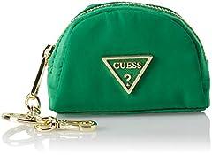 Idea Regalo - Guess Did I Say 90, Portamonete Donna, Verde (Green), 10x7.5x4 cm (W x H x L)