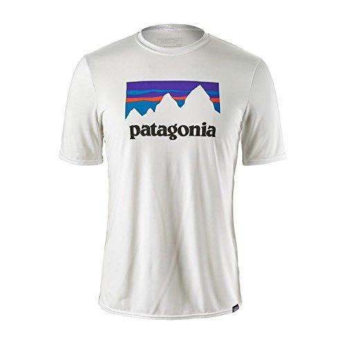 Patagonia Shirt White (Patagonia Herren Cap Daily Graphic Hemd, Weiß (Shop Sticker White), XL)