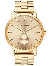 Louis Villiers Reloj Analógico para Unisex Adultos de Cuarzo con Correa en Acero Inoxidable LV2070