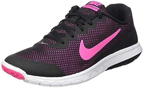 Nike Flex Experience Rn 4, Chaussures de Running Compétition femme, Noir (Black/Pink Foil/White), 41 EU