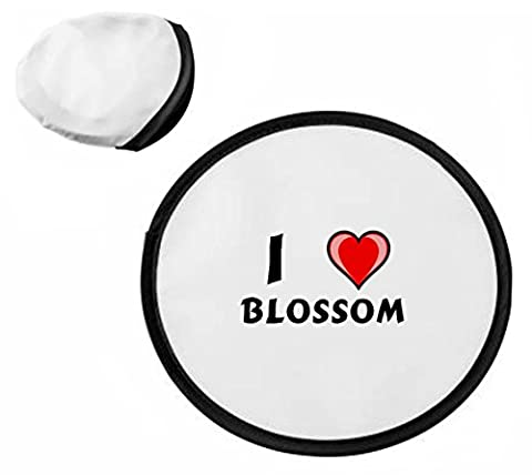 Personalised frisbee with I love Blossom (first