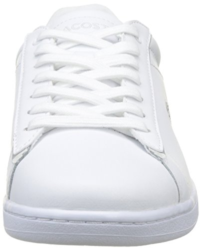 Lacoste Carnaby Evo 217 2, Basses Femme Multicolore (Blanc / Gris)