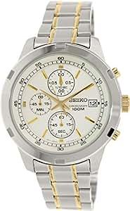 Seiko - SKS423P1 - Montre Homme - Quartz Chronographe - Cadran Blanc - Bracelet Acier Gris