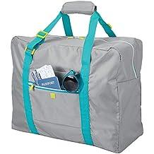 52febe89d mDesign Bolsa de viaje – Ligera maleta de cabina con cremallera y asas,  ideal como