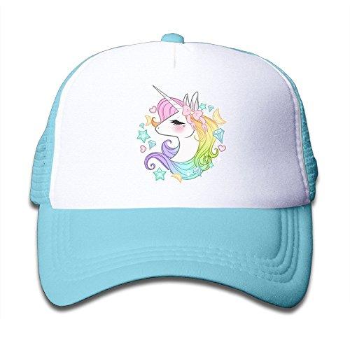 Doormat bag Cute Unicorns Boys Girls Mesh Cap Trucker Hats Adjustable