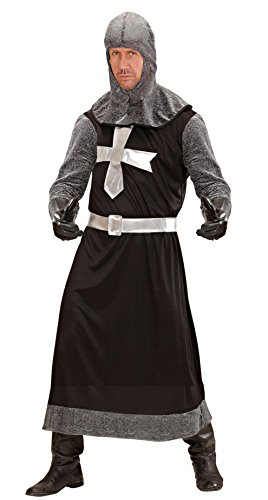 Imagen de disfraz de caballero medieval negro para hombre