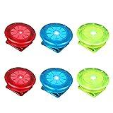 LIOOBO LED Sicherheitslicht Clip für Läufer Hunde Fahrräder Kinderwagen 6 Stück (Rot Blau und Grün)
