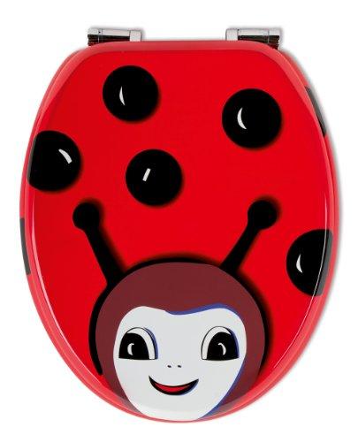 WC-Sitz Dekor Beetle | Toilettensitz | WC-Brille aus Holz | Soft-Close-Absenkautomatik | Metall-Scharnier | Fast-Fix-Schnellbefestigung