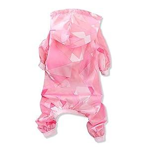 Liuliangmei Été Petit Chien Peau Vêtements À Quatre Pattes Pet Imperméable Veste De Pluie Combinaison Coupe-Vent Protection du Soleil Protection Vêtement Imperméable À La Pluie pour Chat