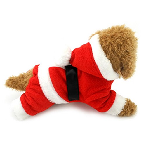 zunea Pet Kleine Hunde Weihnachten Kostüme Mantel Outfits Jumpsuit Welpen Hund Kleidung mit Kapuze (Für Kostüme Holloween)