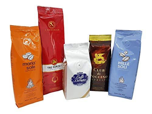 Espresso Probierset, il grande cinque in grani V, Bohnen, 5 x 250g -