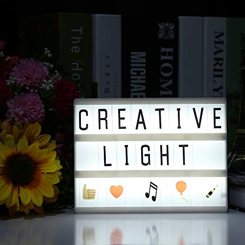 LIULINUIJ Diy Cinema Letters Led Light Box Night Lamp A5 Size Battery Powered Led Lighting Box With Letters For Kids Children Good Gift