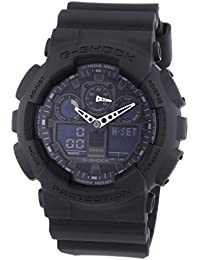 Casio Herren Armbanduhr G-Shock Analog / Digital Quarz Schwarz Resin Ga-100-1A1Er