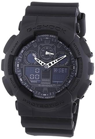 Casio G-Shock - Montre Homme Analogique/Digital avec Bracelet en Résine - GA-100-1A1ER