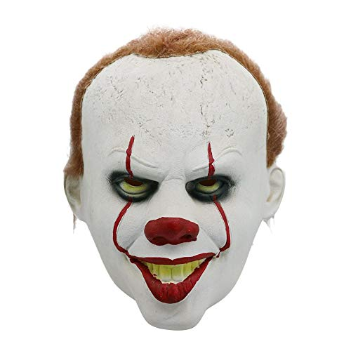 Erwachsene Horror Clown Maske, gruselige Latex Kostüm Joker Maske beängstigend Neuheit Halloween Maskerade Cosplay Party Dekoration Requisiten