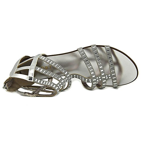 Report Layshia Faux Wildleder Gladiator Sandale Silver