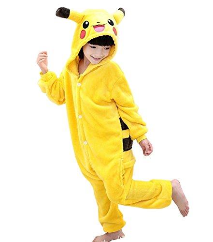 Image of UDreamTime Kids Homewear Sleepsuit Animal Pajamas Halloween Cosplay Costume Pikachu XXL