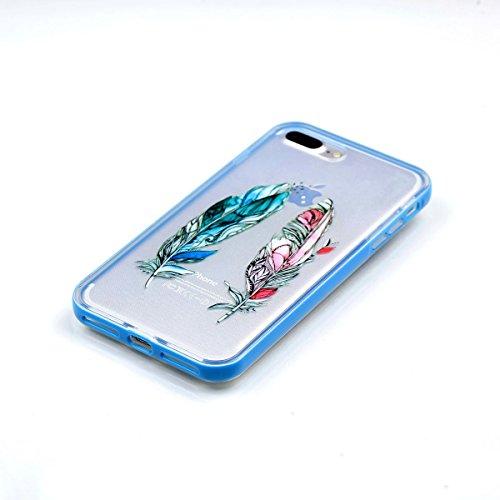 Apple iPhone 8 Plus 5.5 Hülle, Voguecase Schutzhülle / Case / Cover / Hülle / 2 in 1 TPU Gel Skin (Elefanten 06) + Gratis Universal Eingabestift Rote/Blaue Feder