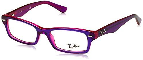 Ray-Ban Mädchen 0RY 1530 3666 48 Brillengestelle, Violett (Topo Violet On Fucsia Fluo),