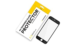 RhinoShield Glass Screen Protector FOR IPHONE 6 Plus/IPHONE 6s Plus [9H 3D CURVED EDGE] To Edge Tempered Glass | Full Coverage Clear and Scratch Resistant Screen Protection Black